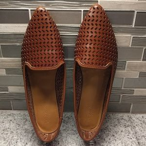 J Crew perforated loafers